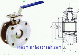 Flanged Ball Valve Stainless Steel Thin Jinshun